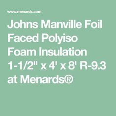 Find the leading building construction material manufacturing johns manville foil faced polyiso foam insulation x x at menards solutioingenieria Images