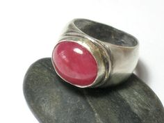 Gemstone Rhodocrosite Silver RingStatement by rioritajewelry, $140.00