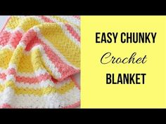 This free crochet blanket pattern for babies will resultt in a soft squishy blanket with a bumpy texture. The stitch pattern is super easy yet beautiful. Crochet Bebe, Easy Crochet, Free Crochet, Chunky Crochet, Crochet Baby Blanket Free Pattern, Granny Square Crochet Pattern, Crochet Afghans, Crochet Stitches For Beginners, Beginner Crochet Projects
