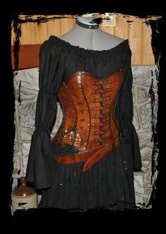 alchemist leather corset front view by Lagueuse.deviantart.com on @deviantART