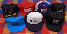 Trucker Hat Lot Adjustable Snapback Mesh Windows Motorsports Black Blue Aqua Red #VariousBrands #Trucker