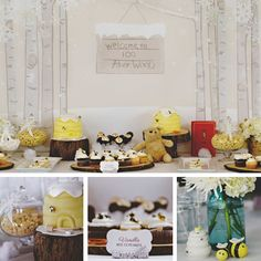 """Need a cute, gender neutral birthday party theme? This vintage """"Winter in the Hundred Acre Wood"""" party styled by @itsybell is an adorable Winnie the Pooh theme for a boy or a girl! (via Project Nursery)"""