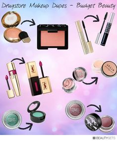 Drugstore makeup dupes of high end cosmetics for beauty on a budget