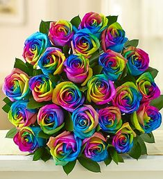 Rainbow Roses fresh Wedding flowers DIY Bride Mothers day US delivery Beautiful painted Rose Wedding Diy Wedding Flowers, Rose Wedding, 800 Flowers, Rainbow Flowers, Rainbow Bouquet, Beautiful Rose Flowers, Rainbow Wedding, Rainbow Aesthetic, Rose Wallpaper