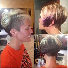"""I was tired of boring... #lifestooshort #myhairdresserisbetterthanyours #hair #shaved #livealittle #itsonlyhair #spicy #yup"""