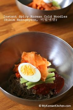 Instant Spicy Korean Cold Noodles (Bibim Naengmyeon) - A perfect option for those who want to be lazy in the kitchen. ;)