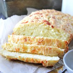 This Mozzarella and Parmesan Buttermilk Quick Bread is a perfect side dish! Serve it warm out of the oven in about 1 hour. No kneading, to rising, no fuss.