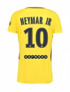 2017 Neymar Jr Jersey PSG Away Replica Yellow Shirt [AFC859]