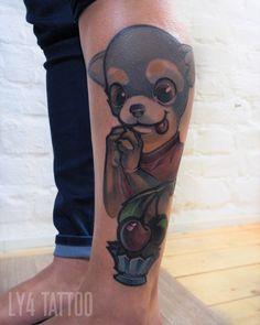 A cool and #customtattoo for a vet client done by Ly4 Tattooartist! #neotraditional #neotrad #neotraditionaltattoo #comictattoo #customsketch #customdrawing #ly4tattoo #livingillustrations #tattoodüsseldorf #kirschetattoo #cherrytattoo #hundtattoo #dogtattoo #veterinary #ilovepets #iloveanimals #animaltattoo