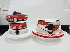 Novelty Cakes, Birthday Cakes, Tableware, Dinnerware, Birthday Cake, Tablewares, Place Settings, Donut Birthday Cakes