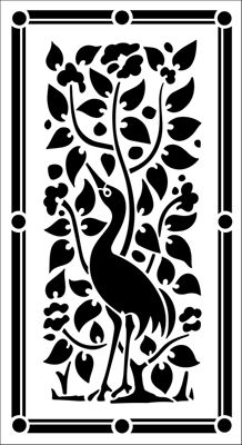 Motif No 25 stencil from The Stencil Library ARTS AND CRAFTS range. Stencil code A motif stencil can be used singly or repeated in either a random or regimented pattern. Bird Stencil, Damask Stencil, Jaali Design, Cnc Cutting Design, Stencils Online, Library Art, Metal Embossing, Architecture Art Design, Carving Designs