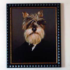 Thierry Poncelet - Count Tolstoi - Gouttelette Print. Period dog portraits! Amazing in the living room for dog lovers. Visit www.thejujushop.com to see more... X