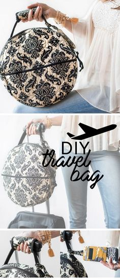 Going on a trip? This DIY quilted travel bag will get you and your belongings to your destination in style. Did we mention it fits perfectly underneath your airplane seat? Shop the fabric and sewing pattern at Craftsy.