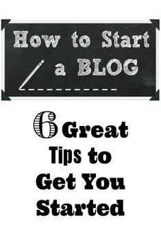 How to Start a Blog... 6 Great Tips to Get You Started! https://ift.tt/1fGfB2u #blogging #blog