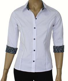 Camisa Feminina Lisa Manga 3/4 :: Netroupas Moda Executiva