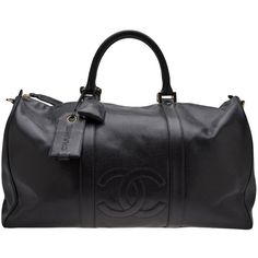 CHANEL VINTAGE 'Boston' tote bag ($4,510) ❤ liked on Polyvore featuring bags, luggage, chanel, purses and travel