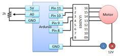 Ming's Blogger: Arduino範例11:用可變電阻+Arduino 控制步進馬達位置