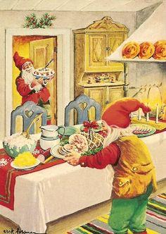"""""""God Jul """" Christmas Postcard"""