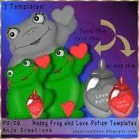 Happy Frog and Love Potion Templates [Anjo Creations] - $1.50 : LowBudgetScrapping