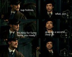 Funny faces Sherlock