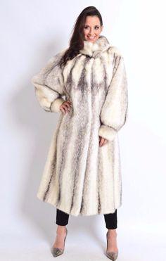 SAGA MINK FUR COAT black cross kohinoor PALE IVORY BEIGE - VISON HOPKA NERZ XL | eBay