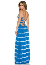 Indah Zera Ruffle Bottom Maxi Dress in King | REVOLV
