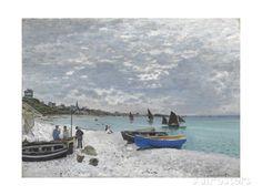 The Beach at Sainte-Adresse Gicléedruk van Claude Monet bij AllPosters.nl