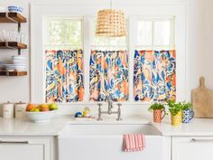 Think beyond the shower curtain with these chic, space-saving tension rod hacks from HGTV.com.