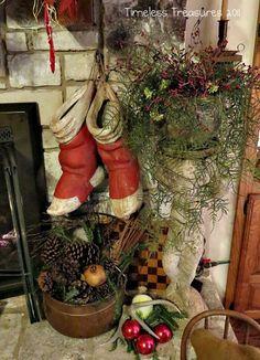 Timeless Treasures : Christmas Mantel