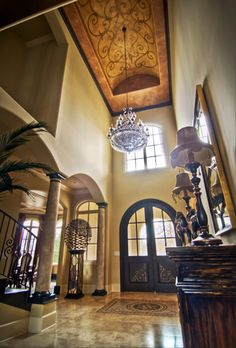 Plaster - paint and art Ceiling Finishes, Wall Finishes, Faux Painting, House Painting, Barrel Vault Ceiling, World Decor, Hallway Designs, Ceiling Treatments, Tuscan Design