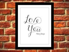 Love Art Print, Instant Download, Printable Art on Etsy, $8.00