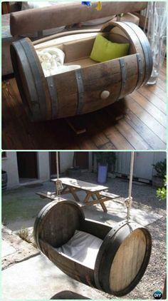 DIY Wine Barrel Crib - DIY Baby Crib Projects [Free Plans]