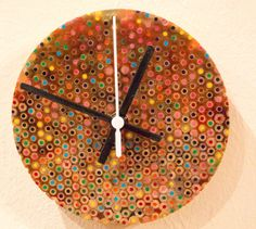 Colour Pencil Resin Turned Wall Clock with Non Ticking, Silent Sweep, Movement. unique homemade gift for christmas Homemade Christmas Gifts, Homemade Gifts, Authors, Writers, Bedroom Clocks, Clock For Kids, Kitchen Clocks, Cool Clocks, Wooden Clock