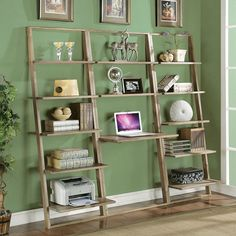 24 DIY ladder bookshelf plans.
