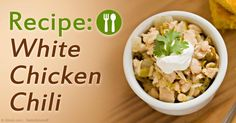 Here's a healthy White Chicken Chili Recipe that you can easily try at home using a slow cooker. http://articles.mercola.com/sites/articles/archive/2015/02/22/white-chicken-chili-recipe.aspx