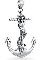 Bling Jewelry 925 Silver Crystal Celtic Sea Mermaid Pendant tXdXJTpCbI