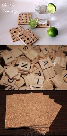 DIY Scrabble Buchstaben + Anleitung. DY, Basteln und Selbermachen