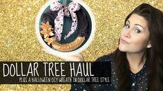 Dollar Tree Haul   Featuring Halloween DIY Wreath