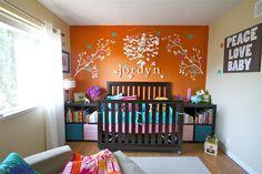turquoise, yellow and orange nursery | Orange Nursery Ideas