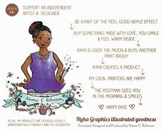 A blog promo piece 5 reasons to shop at my Etsy Reason Three - Support An Independent Artist Naomi C Robinson
