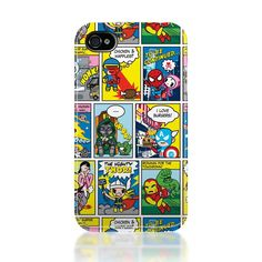 Tokidoki Superhero Themed iPhone 4 Case.... If only they had it for my phone
