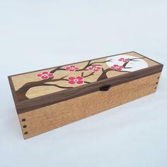 Jewellery Boxes, Wooden Jewelry Boxes, Wooden Boxes, Cherry Blossom Jewelry, Wooden Watch Box, Watch Gift Box, Walnut Burl, Tree Wall Art, Tea Light Holder
