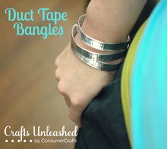 Check out this super fast, super inexpensive and super fun jewelry project that only requires scissors and duct tape -- duct tape bangle bracelets!