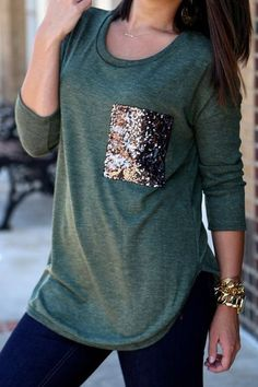 Chic Scoop Collar Long Sleeve Sequined T-Shirt For Women