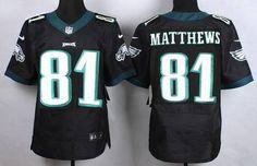 Men's Philadelphia Eagles #81 Jordan Matthews 2014 Nike Black Elite Jersey