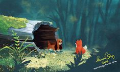 The Fox and the Hound by monicarize.deviantart.com on @deviantART