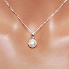 Simple gota perla novia colgante joyería por AuroraJewelryBox