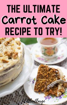 Want to make a delicious and easy cake from scratch? Try out this carrot cake recipe for the tastiest dessert ever! This recipe makes great carrot cupcakes too! #carrotcake #dessertrecipes #carrotcakerecipe #easycakerecipe #easyrecipes Easy Cake Recipes, Delicious Recipes, Baking Recipes, Dessert Recipes, Yummy Food, Tasty, Ultimate Carrot Cake Recipe, Perfect Food, Cake Pans