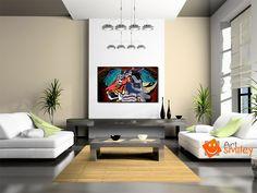Title: Titalee Price: $520 Size: Width (cm): 48, Height (cm): 52  Rhinoceros, Tiger, Elephant https://artsmiley.com/product/titalee/  #paintings #animals #Surrealistic #Multicolor #AcryliconWood #Rhinoceros #Tiger #Elephant #affordableart #buyarts #buypaintings #canvaswallart #contemporaryarts #artlover #artoftheday #acrylicpaintings #acrylicarts #paintingsonline #acrylicartist