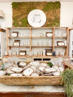 Bar Displays, Craft Show Displays, Store Displays, Candle Display Ideas, Bath Store, Candle Store, Dough Bowl, Handmade Candles, Gift Store